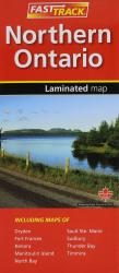 Northern Ontario, Fast Track laminated map by Canadian Cartographics Corporation