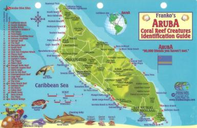 Aruba Reef Creatures Identification Guide by Frankos Maps Ltd.
