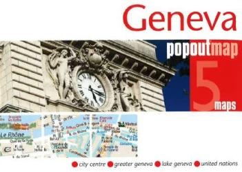 Geneva, Switzerland, PopOut Map by PopOut Products