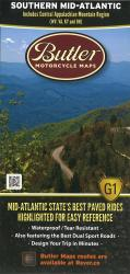 Butler's Motorcycle Map: Southern Mid-Atlantic by Butler Motorcycle Maps