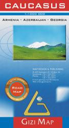 Caucasus Road Map by GiziMap