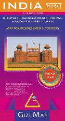 India Road Map by GiziMap