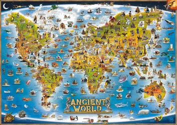 Dino's World, Ancient Illustrated by Dino Maps