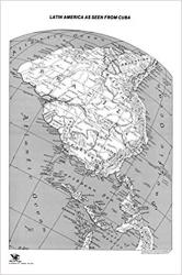 """Latin America as seen from Cuba, paper folded, 24x36"""" by ODT, Inc."""