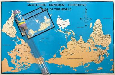 McArthur's Universal Corrective Map of the World, tubed, laminated by ODT, Inc.