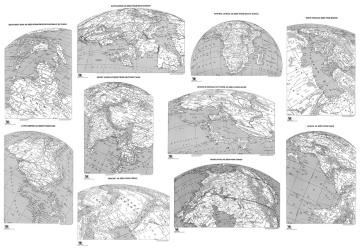 """Global Perspective Maps, 11x16"""", set of 10 by ODT, Inc."""