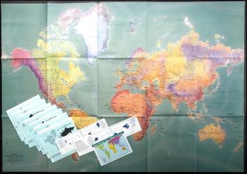 Mercator Projection Paper Folded World Map by ODT, Inc.