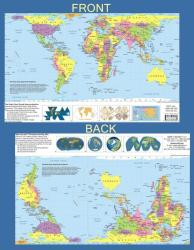"""Hobo-Dyer Projection World Map - 11"""" x 17"""" - paper folded by ODT, Inc."""