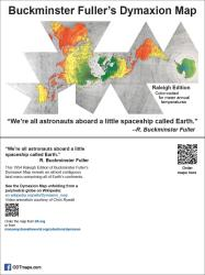 """Buckminister Fuller's Dymaxion Map 4""""x6"""" postcards in a 25 pack by ODT, Inc."""