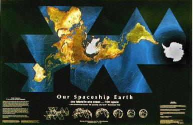 """Dymaxion Satellite - Black 6""""x9"""" Postcards in a 25 pack by ODT, Inc."""