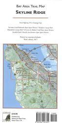 Bay Area Trail Map: Skyline Ridge by Redwood Hikes Press