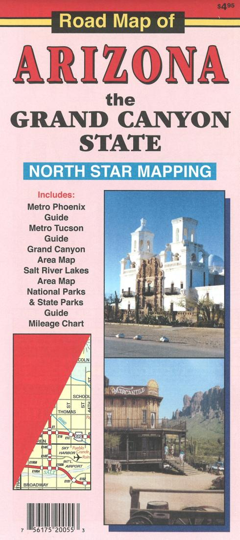 Map Of Arizona Historical Sites.Road Map Of Arizona The Grand Canyon State By North Star Mapping