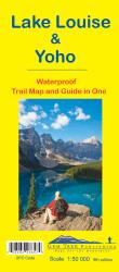 Lake Louise and Yoho, British Columbia and Alberta Trail Map and Guide in One (waterproof) by Gem Trek
