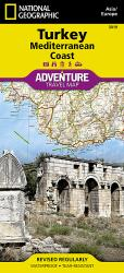 Turkey & Mediterranean Coast Adventure Map 3019 by National Geographic Maps