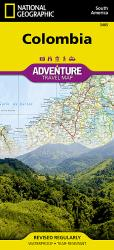 Colombia Adventure Map 3405 by National Geographic Maps