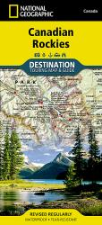 Canadian Rockies DestinationMap by National Geographic Maps