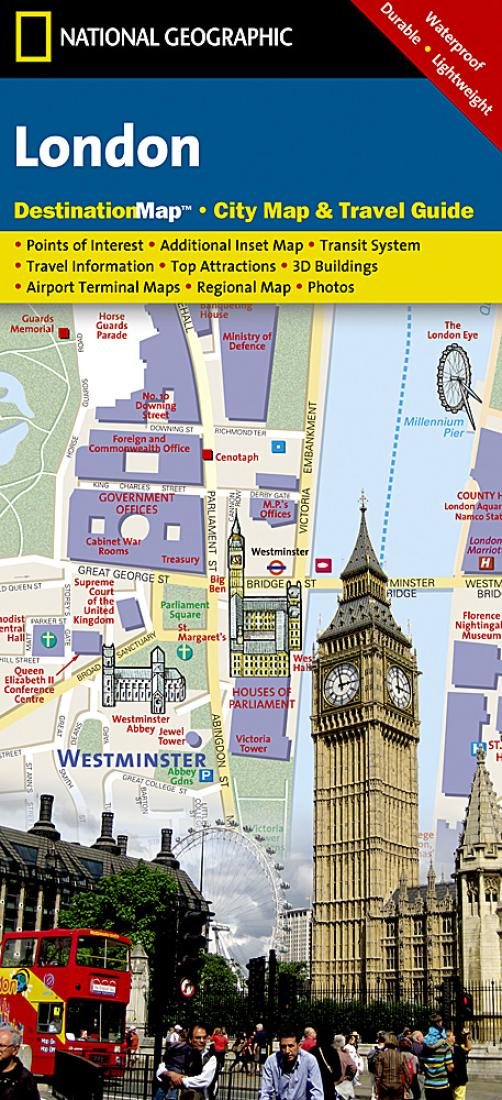 Easy London Map.London United Kingdom Destinationmap By National Geographic Maps