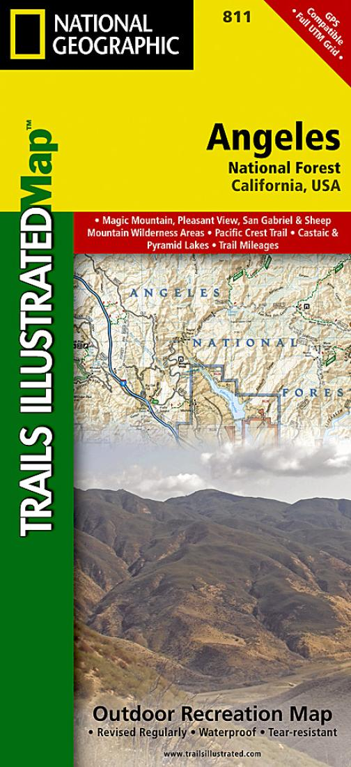 Angeles National Forest California Map 811 By National Geographic