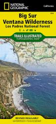 Big Sur, Ventana Wilderness and Los Padres Nat'l Forest, Map 814 by National Geographic Maps