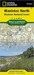 Manistee National Forest, North, Map 758 by National Geographic Maps