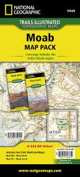 Moab, Map Pack Bundle by National Geographic Maps