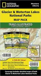 Glacier and Waterton Lakes National Parks, Map Pack Bundle by National Geographic Maps