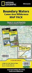 Boundary Waters Canoe Area Wilderness, Map Pack Bundle by National Geographic Maps