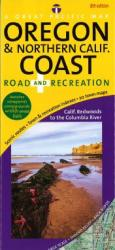 Oregon Coast and Northern California Coast, Recreation by Great Pacific Recreation & Travel Maps