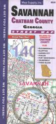 Savannah and Chatham County Street Map by Map Supply, Inc.