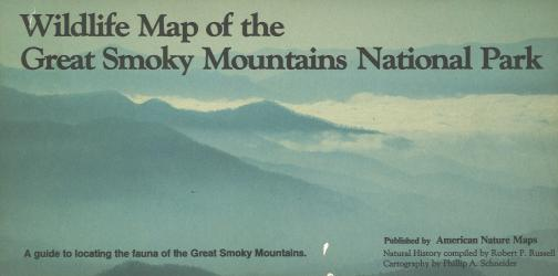 Wildlife Map of the Great Smoky Mountains National Park by American Nature Maps
