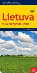 Lithuania road map, laminated by Jana Seta