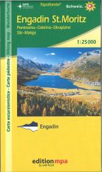 Engadin St. Moritz, Topographical Hiking Map by Edition MPA by Orell Fussli