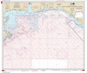 Cape St. George to Mississippi Passes (Oil and Gas Leasing Areas) (1115A-44) by NOAA