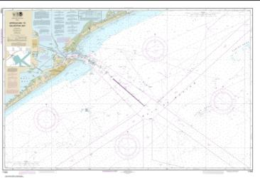 Approaches to Galveston Bay (11323-65) by NOAA