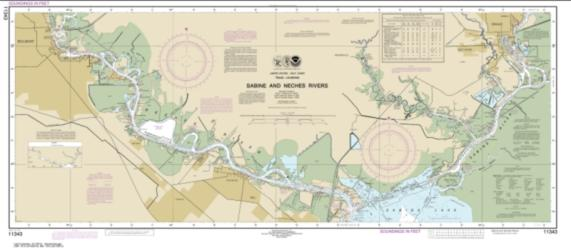 Sabine and Neches Rivers (11343-39) by NOAA