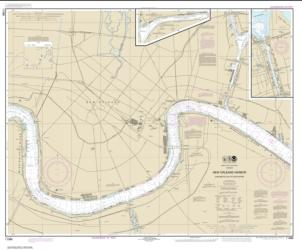 New Orleans Harbor Chalmette Slip to Southport (11368-25) by NOAA