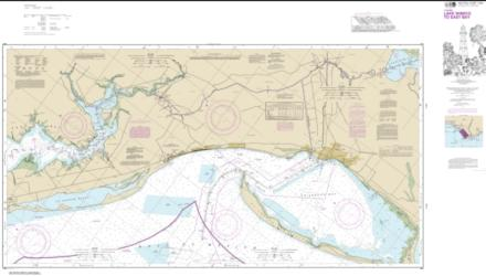 Intracoastal Waterway Lake Wimico to East Bay (11393-22) by NOAA