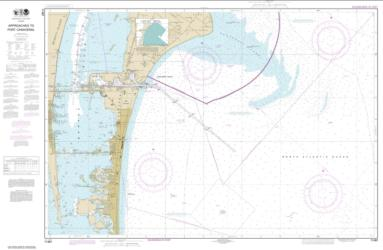 Approaches to Port Canaveral (11481-9) by NOAA