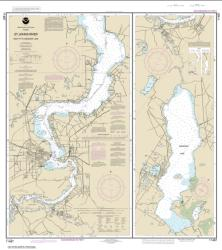 St. Johns River Racy Point to Crescent Lake (11487-20) by NOAA