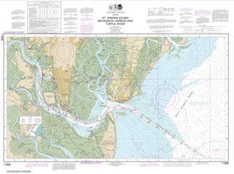 St. Simons Sound, Brunswick Harbor and Turtle River (11506-45) by NOAA