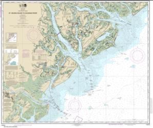 St. Helena Sound to Savannah River (11513-27) by NOAA