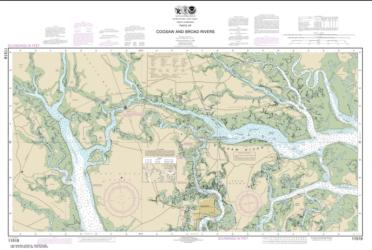 Parts of Coosaw and Broad Rivers (11519-13) by NOAA