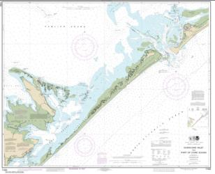 Ocracoke lnlet and Part of Core Sound (11550-30) by NOAA