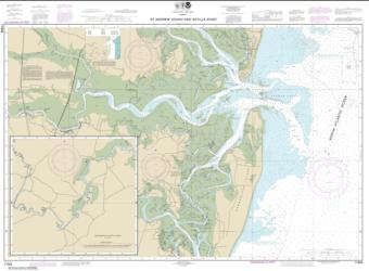 St. Andrew Sound and Satilla River (11504-18) by NOAA