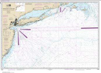 Approaches to New York, Nantucket Shoals to Five Fathom Bank (12300-49) by NOAA