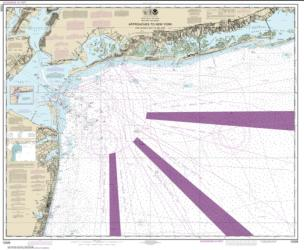 Approaches to New York Fire lsland Light to Sea Girt (12326-52) by NOAA