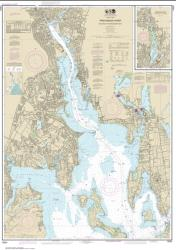 Providence River and Head of Narragansett Bay (13224-40) by NOAA