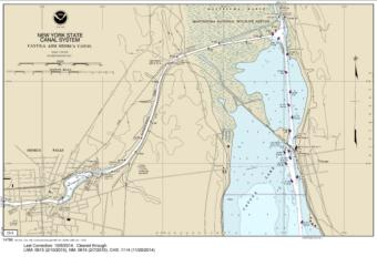 SMALL-CRAFT BOOK CHART New York State Canal System (book of 61 Charts) (14786-14) by NOAA