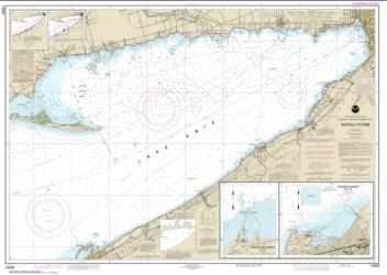 Buffalo to Erie; Dunkirk; Barcelone Harbor (14838-4) by NOAA