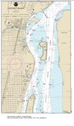 SMALL-CRAFT BOOK CHART - Detroit River, Lake St. Clair and St. Clair River (book of 47 charts) (14853-17) by NOAA